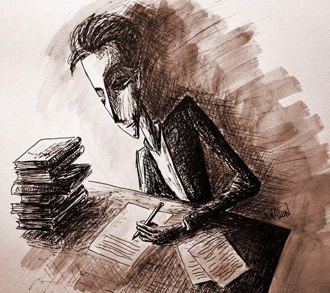 escritor escribiendo